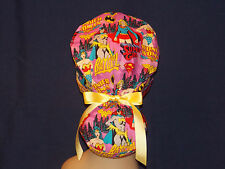 Surgical Scrub Hat Scrub Cap Ponytail Cuffed  Women Ladies Medical  Handmade