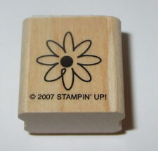 Daisy Flower Stampin' Up! Rubber Stamp Garden Wood Mounted Petals #2