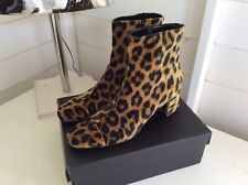 Lolo Ballarinas Designer Animal Leopard Print Ankle Boots EU40 UK 6.5 Worn Once