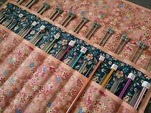Handmade knitting Needle Case/ Organizer / Holder / tunisian crochet/ ideal gift