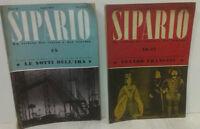 """LOTTO DI 2 RIVISTE """"SIPARIO"""" - 1947 - TEATRO E CINEMA"""
