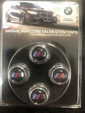 BMW M LOGO VALVE STEM CAPS GENUINE 36110421543
