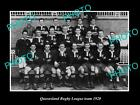 OLD LARGE HISTORIC PHOTO OF THE QUEENSLAND RUGBY LEAGUE TEAM c1920