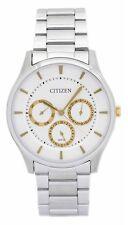 Citizen Analogue Dress Mens QUARTZ Watch White Dial  AG8351-51B