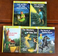 Set 1-5 HB Nancy Drew  Mystery Stories by Carolyn Keene