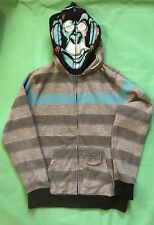 Mad Monkey Kung Fu Full Zip Hoodie Youth XL striped Full Zip Mad Monkey Face