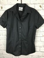 Ladies Dark Grey short sleeved Shirt B&C Collection Size 14 L adjusted fit C2564