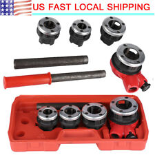 Pipe Threader With 4 Stock Dies 1/2, 3/4, 1, 1, 1-1/4 inch Ratchet Handle Us
