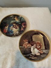 Lot of 2 Precious Moments Bible Story Collector Plates Hamilton Collection