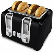 New listing Toaster Stainless Steel 4 Slice Extra-Wide Slot Crumb Tray Defrost Bagels Buns