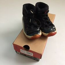 1996 OG Nike Air Jordan XI 11 Bred Baby Size 9.5c Basketball Shoes W/ Box Black
