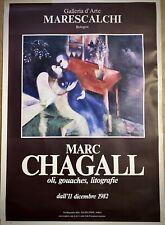MARC CHAGALL -Poster originale - Galleria d'Arte Marescalchi - Bologna - 1982-