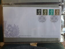 UK 2002 QEII DEFINITIVES SET 4 STAMPS FDC FIRST DAY COVER