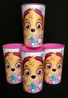 Nickelodeon PAW PATROL SKYE 22 oz Plastic Drinking Cups Set/4, Party Favors-NEW