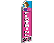 Clothing Sale Pink Swooper Super Feather Advertising Flag