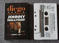 Johnny Hallyday, Diego libre dans sa tete , K7 audio single / Audio tape single