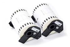2x Rouleau Etiquettes Standard 102mm 30,48m pour Brother P-touch QL-1060