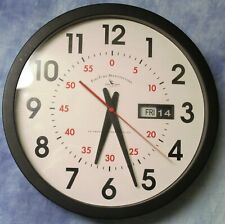 First Time Manufactory Analog Wall Clock + Day/Date - An American Timekeeping Co