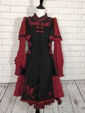 Chess Story Qi Lolita Dress + Jacket Scarf Red Black Gothic Punk Rock Cosplay