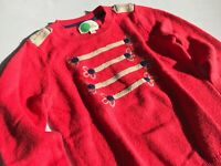 MINI BODEN Toller roter Strickpulli Pullover Military Style Gr.7/8 128