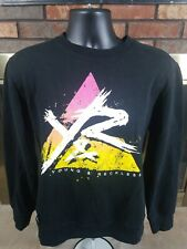 Young and Reckless Y&R Men Sweatshirt Size M Crewneck Neon Black Long Sleeve Top