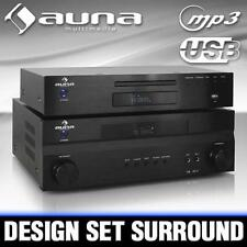 DESIGN SURROUND RECEIVER ENDSTUFE AMPLIFIER USB CD PLAYER HIFI KOMPONENTEN SET