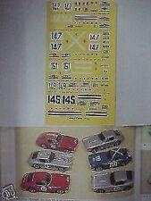 FERRARI 250 SWB TOUR DE FRANCE 1961 1/43 DECALS