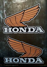 2 X HONDA WINGS TWIN SHOCK EVO TANK VINYL STICKERS DECALS Left & Right NEW