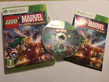 Xbox 360 video Juego Lego Marvel Super Heroes + CAJA E INSTRUCCIONES COMPLETO PAL