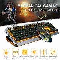 Ergonomic LED Backlit Gaming Keyboard 4000DPI Mouse Combo For PC Laptop Win10 OS