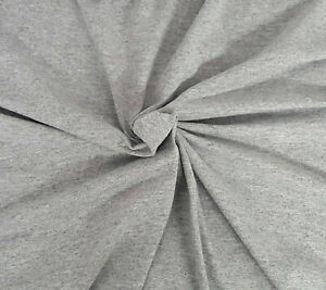 Heather Gray poly Cotton Fabric Jersey Knit 8 yards