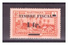 MARTINIQUE  . N° 133 . 1 c    SURCHARGE 1 Fr  TIMBRE FISCAL   NEUF  * . SUPERBE