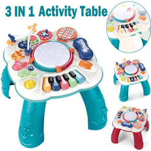 Baby Musical Learning Table 3 in 1 Early Education Kids Activity Centre Play Toy