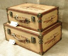 Canvas Hard Suitcases