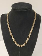14.7g 17.5� 6 Mm 🚀 Fast Ship 10k Yellow Gold Rolex Link Style Chain Necklace