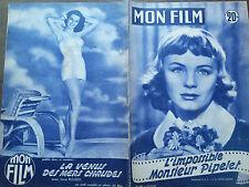 """MON FILM 1955  N 487 """" L' IMPOSSIBLE MONSIEUR PIPELET """" avec ETCHIKA CHOUREAU"""