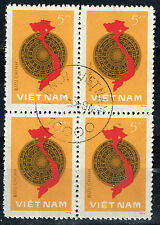 Vietnam War Viet Cong Army Victory Map 1978 Block 4 stamps
