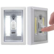 2pk COB LED Wall Lighted Switch Wireless Closet Night Light Multi-Use Self-Stick