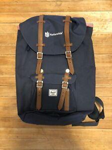 Herschel Little America Mid-Volume Backpack Navy/Tan (Nationwide logo)