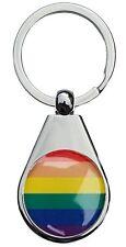gay rainbow chrome poli porte clé poirier style forme