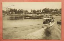 1941 DPO 1880-1967 SQUIRREL ISLAND ME MAINE BOAT BOOTHBAY HARBOR POSTCARD