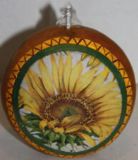 gourd oil lamp or candle with sunflower