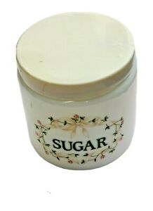 Vintage Johnson Brothers Eternal Beau Sugar Storage Jar Milk Glass Candlelight