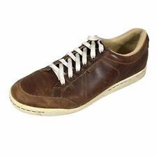 Ashworth Men's Cardiff Brown Leather Spikeless Cleated Golf Shoes G54214 US 10.5