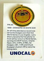 Pin #5  1959 L.A. Dodgers Vs White Sox Tie Lapel Pin Unocal 76