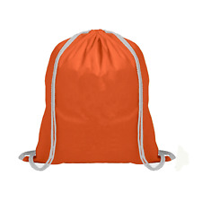 100% Cotton Plain Drawstring Bag Kids Sport PE Gym Laundry Storage Rucksack New