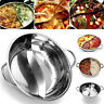 Thicken Stainless Steel Hot Pot Single-layer Dual Site Double Ear Cookware