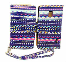 Stylish Tribal Wallet Leather Case for  LG Optimus F6 D500 / MS500  - Kickstand
