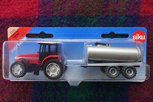 SIKU 1515 1/87 Massey Ferguson 9240 tractor towing vacuum tank trailer (MIB)