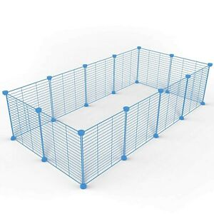 Tespo Pet Playpen, Small Animal Cage Indoor Portable Metal Wire yd Fence ... New